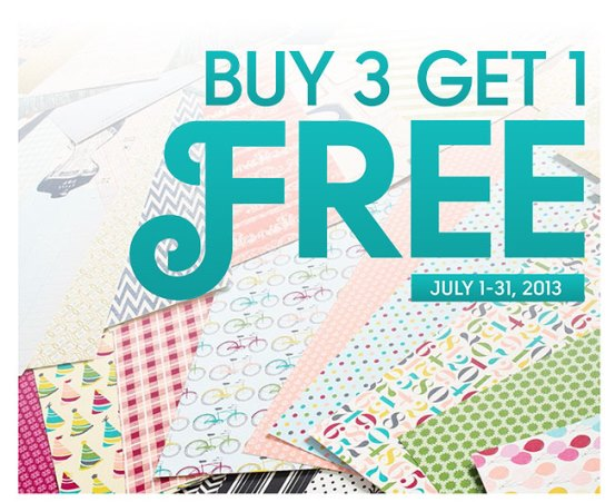 Stampin' Up! 3+Free Sale on Patterned Paper