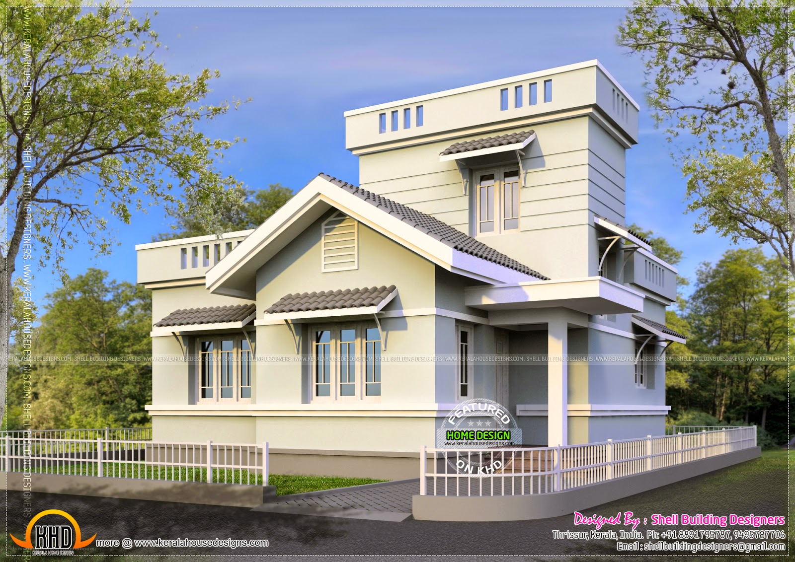 Small House With Stair Room Kerala Home Design Bloglovin
