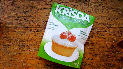 package of Krisda on a background of wood