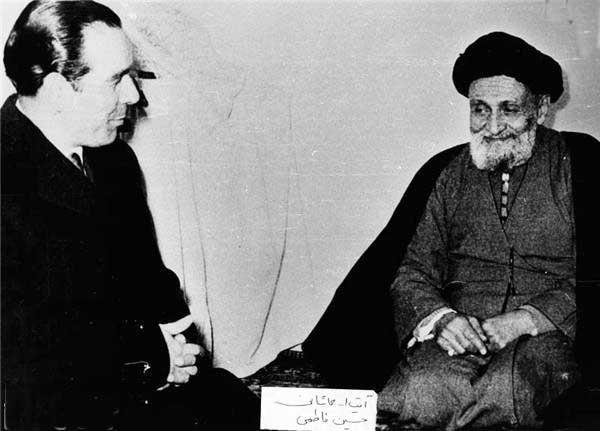 آیت الله سید ابوالقاسم کاشانی و دکتر سید حسین فاطمی
