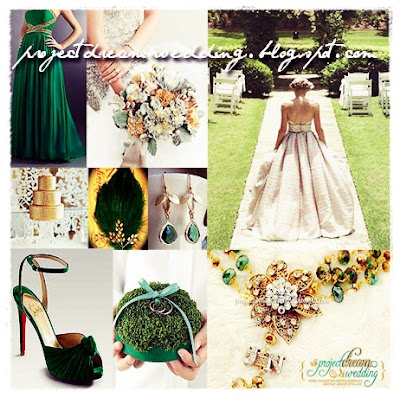 This elegant wedding color combination is best for December or midsummer