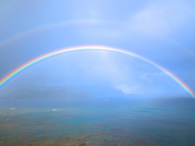 Double rainbow Hanalei Bay Hawaii Kauai