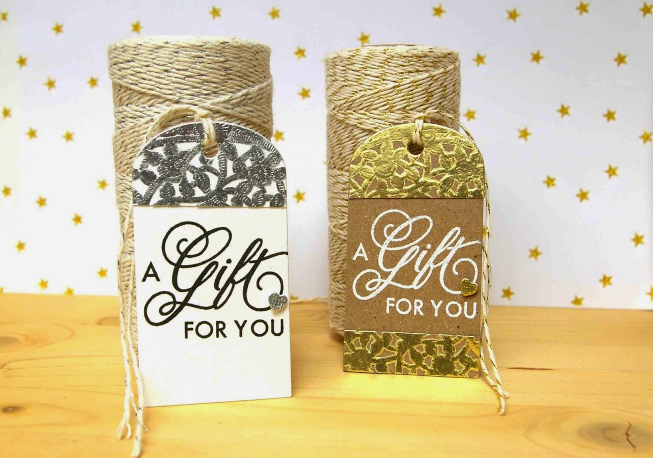 SRM Stickers Blog - Doily Gift Tags by Lorena - #doilies #gold #silver #twine #shimmer #gift tag