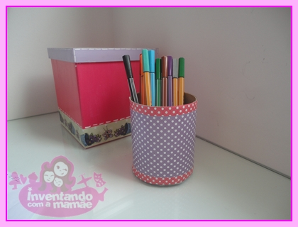 Porta-lápis reciclado