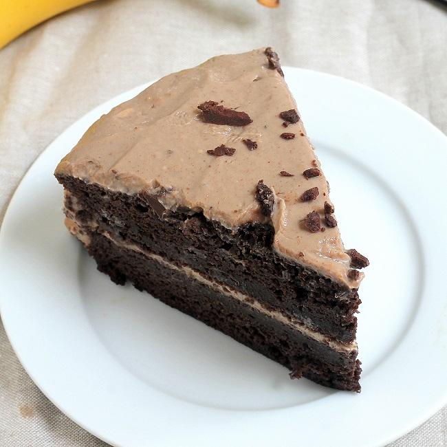 Spelt Flour Peanut Butter Layer Cake