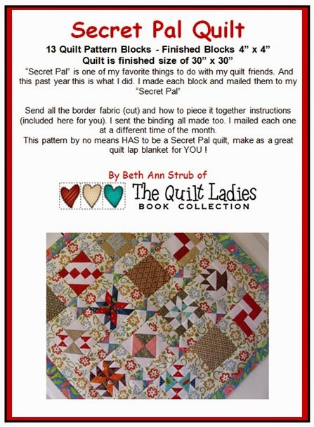 how to make a secret pal quilt