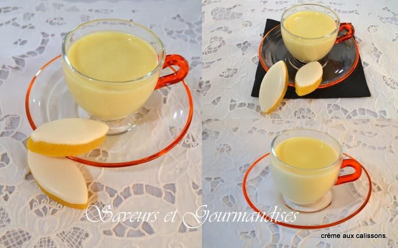 Crème aux Calissons.