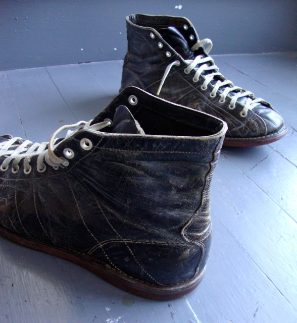 RIVETED: PRE WW2 BASKETBALL SHOES HYDE & SONS