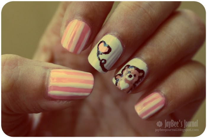 Valentine S Day Nail Art Tutorial Teddy Bear Stani Beauty Blog Book