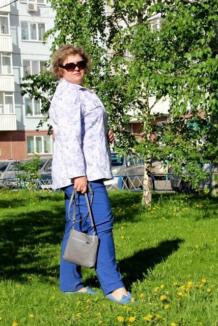 летний жакет для полных в джинсовом стиле