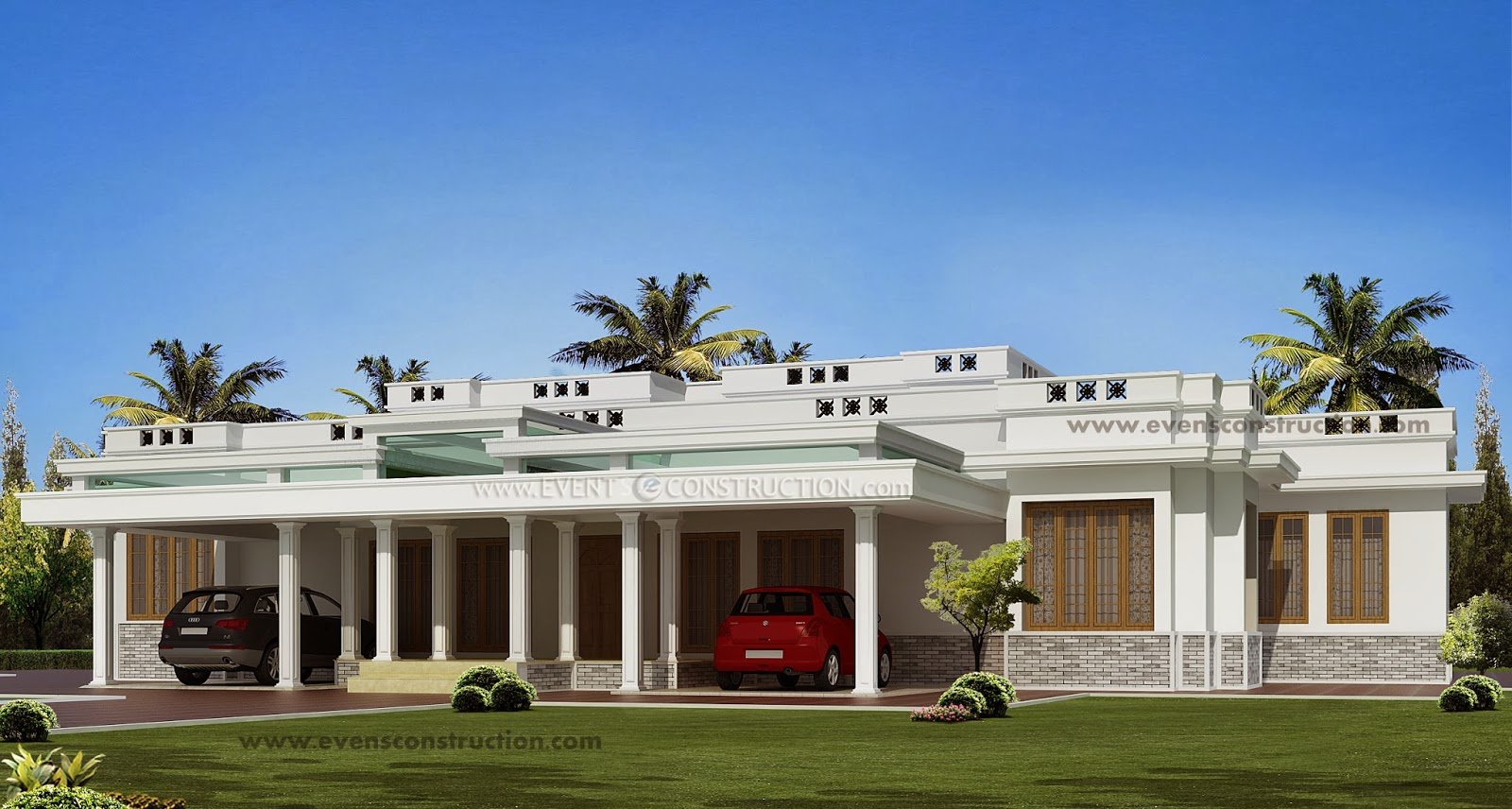 Pin Bungalow Boundary Wall Design on Pinterest