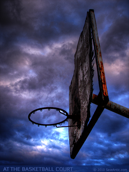 At the Basketball Court: Basketball Backboard (Vratnica)