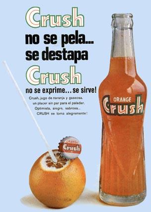 Propaganda do Refrigerante Crush, anos 80.