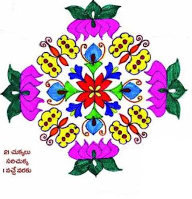 sankathi traditional rangoli designs, Flower Kolam, Dot Kolangal, Dot
