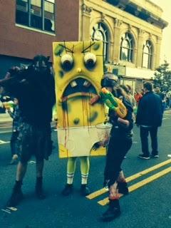 NJ zombie walk 2014 sponge bob