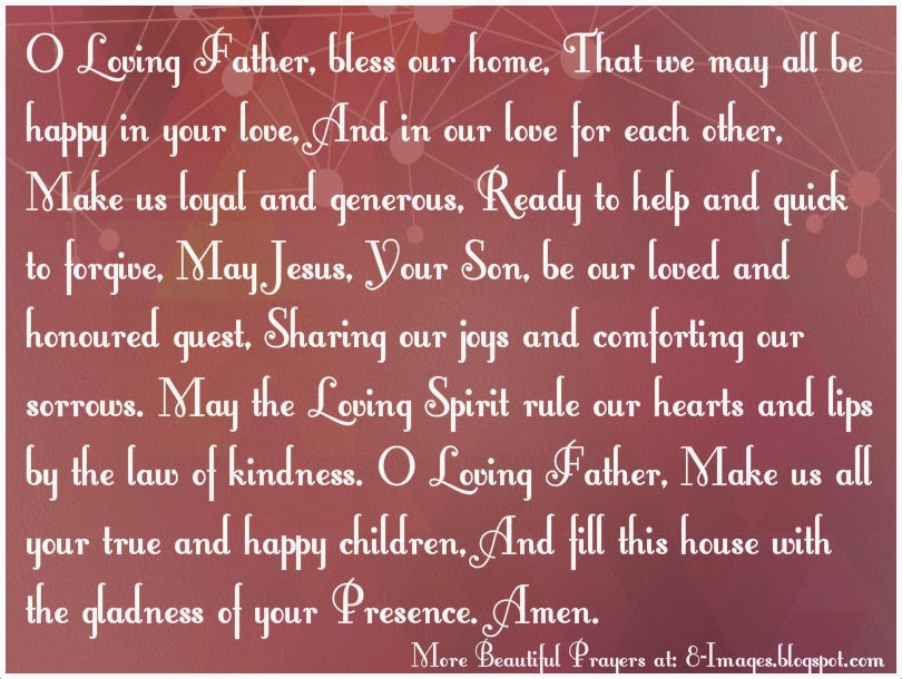 Prayer For A Happy Home/ Family Prayer. - Quotes