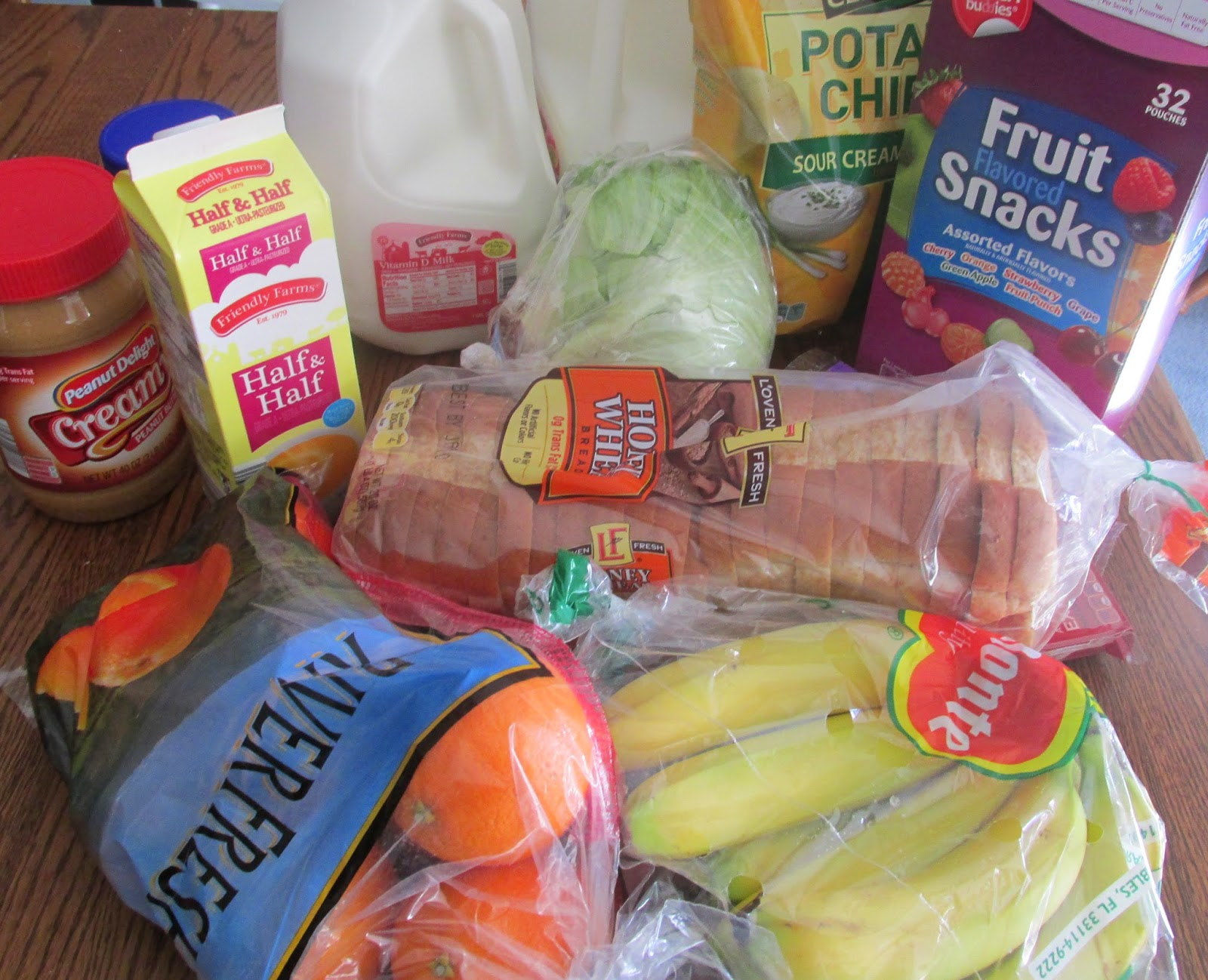 Picture of groceries from Aldi's