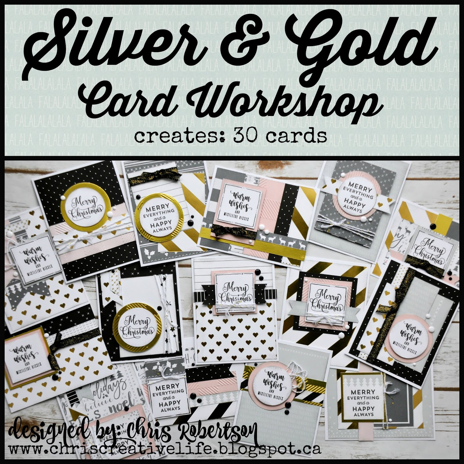 Silver & Gold Cardmaking Workshop