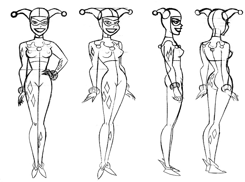 Batman The Animated Series Model Sheets title=