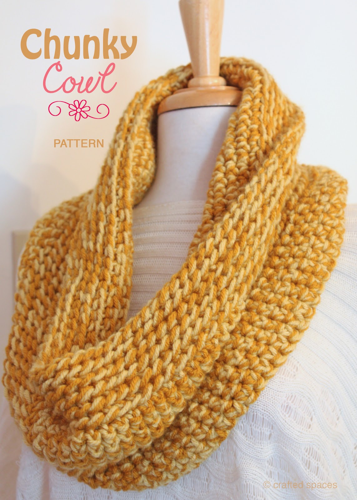 Crochet Patterns Using Chunky Yarn : Crafted Spaces: Chunky Cowl