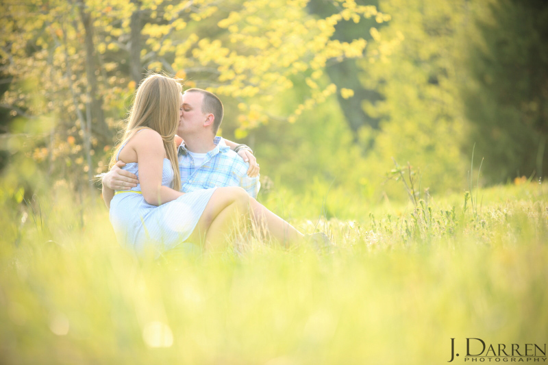 North Carolina Engagement Photography on a farm