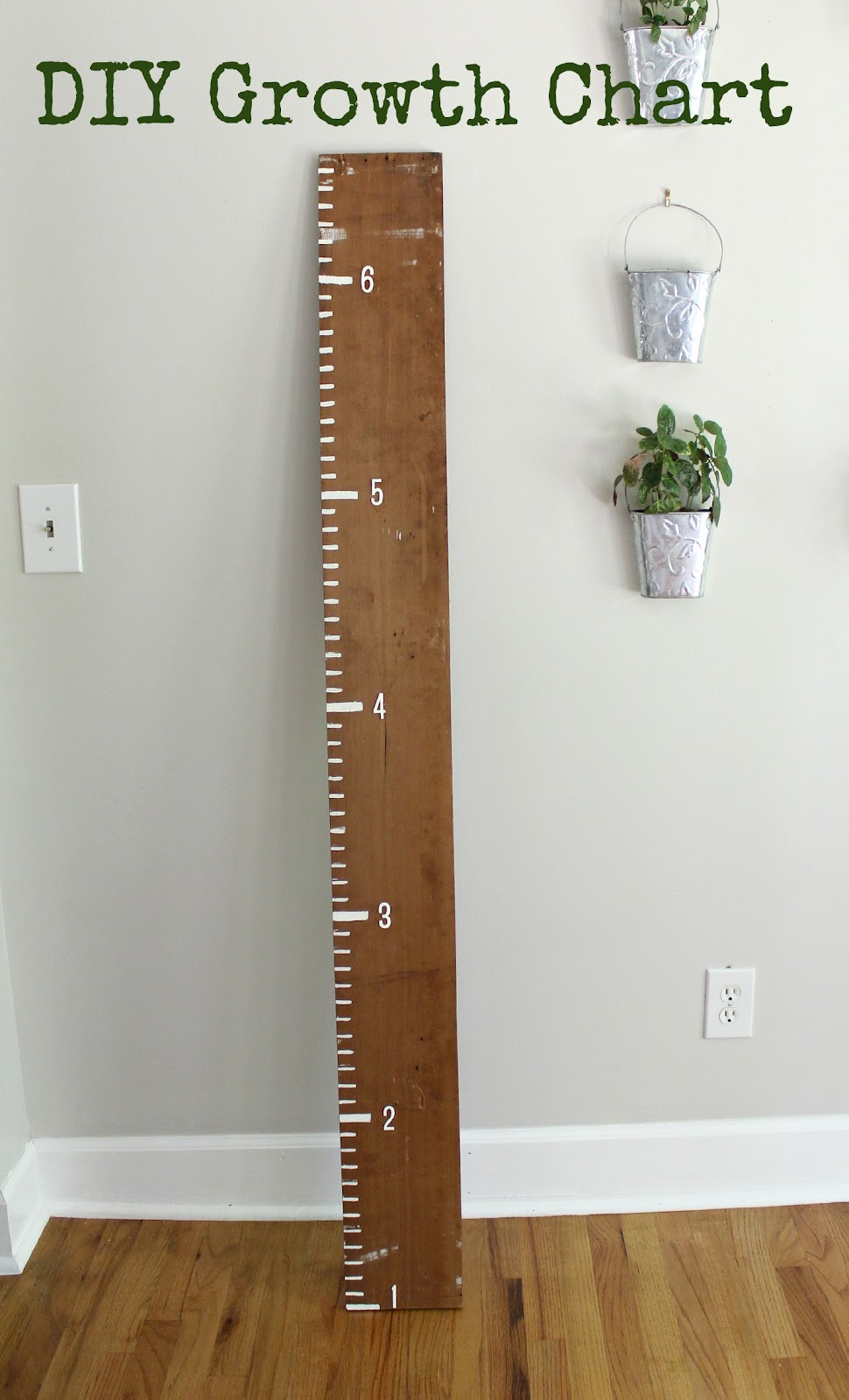 Diy Wooden Ruler Growth Chart Woodguides
