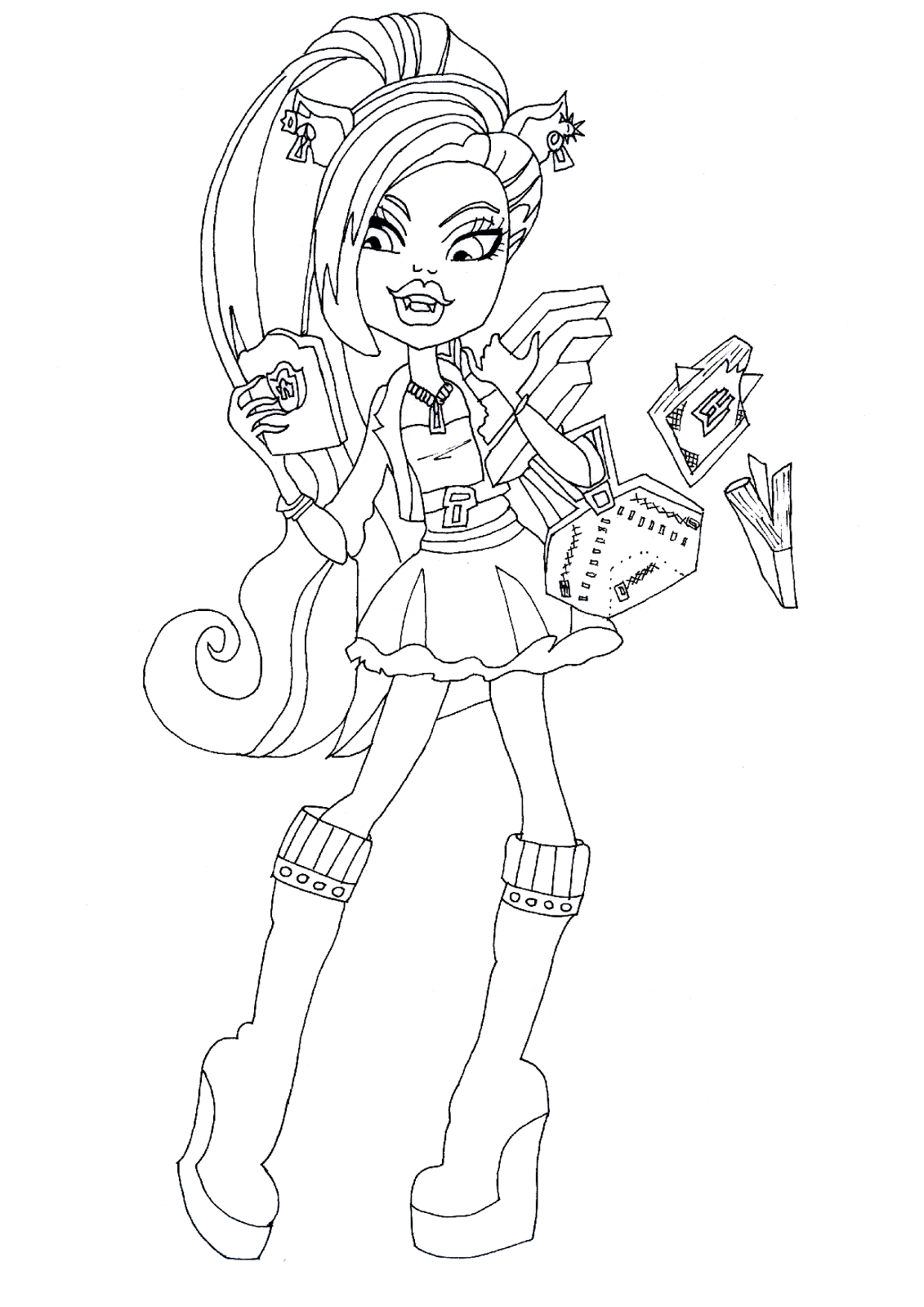 Free printable monster high coloring pages october 2013 for Print monster high coloring pages