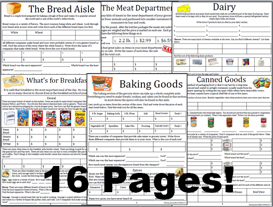 Empowered By THEM Grocery Store Math – Grocery Store Math Worksheets