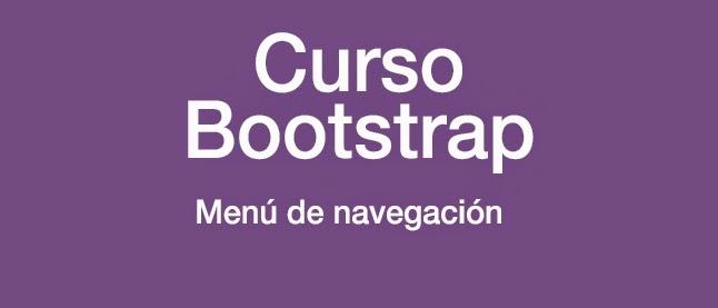 Curso Bootstrap: Menú de navegación