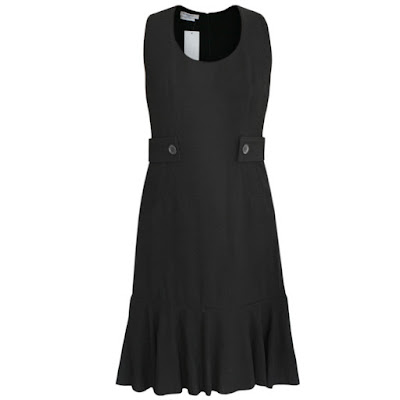 givenchy riccardo tisci flounce hem wool dress