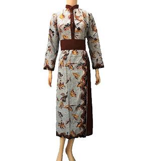 Koleksi Model Baju Gamis Batik Modern Terbaru Model Baju