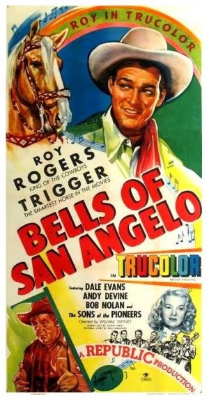 Bells Of San Angelo Vintage Movie Poster