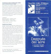 """""""DESPUÉS DEL AIRE"""", de Andrés Binetti y Mariano Saba (Dir. A. Binetti)"""
