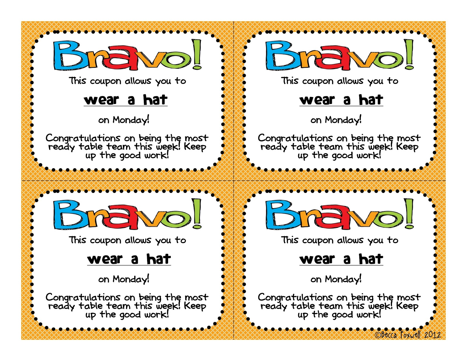 bravo board and reward coupons bie classroom management the table that wins gets to decide on which one of the rewards they want they then take the coupon home on friday for their family to see and get to enjoy
