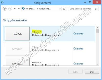 Windows 8 Klavye Düzenini Değiştirme