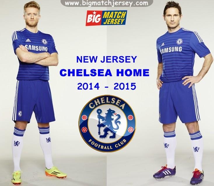Distributor  Jersey Home Baru Chelsea Musim Depan Grade Original 2014-2015