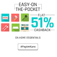 PayTM : Buy Home & Kitchen Products upto 51% Cashback
