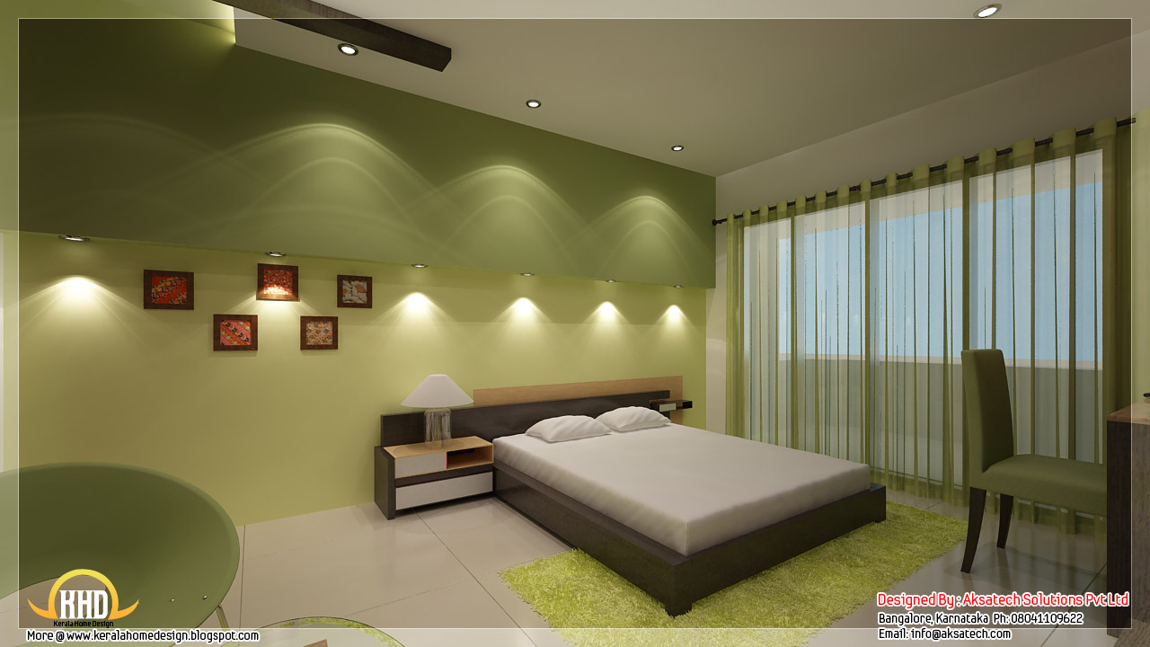 Beautiful contemporary home designs kerala home design for Bedroom interior designs gallery