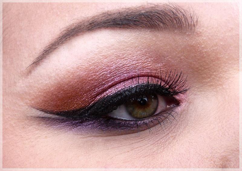 Augenmakeup INGLOT pink lila orange