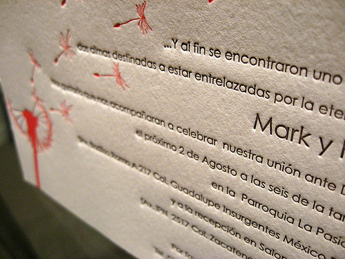 Wedding Invite Letterpress Cards