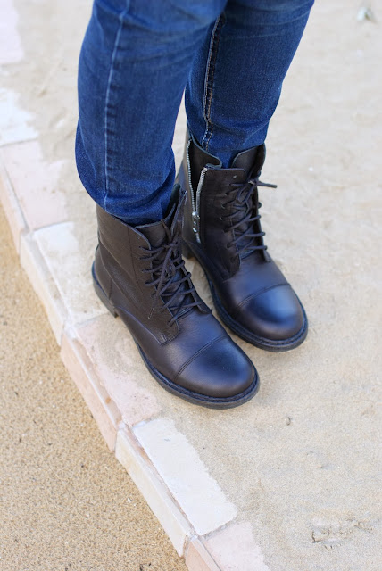 anfibi in pelle, Gaia d'Este, combat boots, Fashion and Cookies, fashion blogger