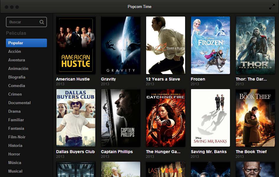 Popcorn time 2 ver pel culas online por torrent super for Ver torrente online