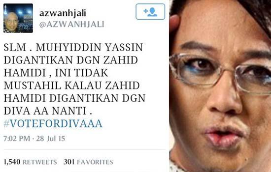 Azwan Ali Mahu ganti Zahid Hamidi jadi Timbalan Perdana Menteri