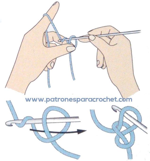 Cómo se hace el nudo deslizado ganchillo