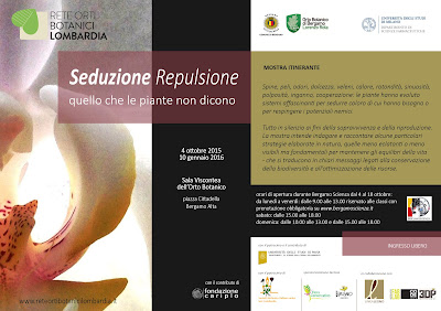 Flyer for the exhibition Seduzione Repulsione