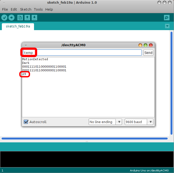 Jubito simple interface example with arduino