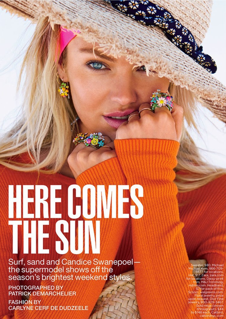 Candice Swanepoel Poses for Lucky Magazine June-July 2014 by Patrick Demarchelier