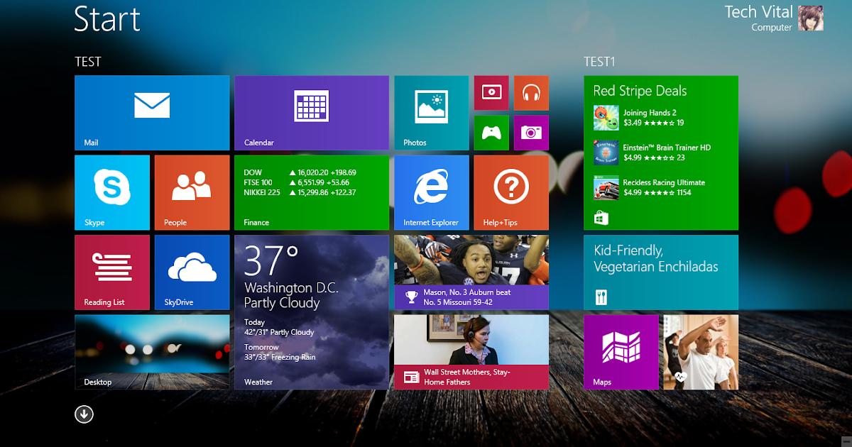 How To Change Windows 8.1 Start Background using Wallpaper |Tech-Vital ...