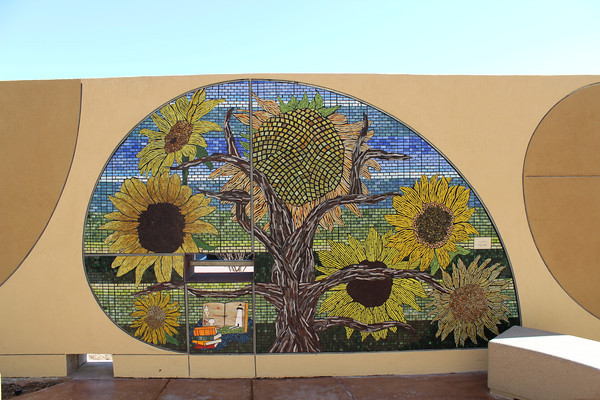 Mosaic depicting sunflowers