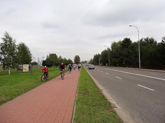 Ścieżka rowerowa wzdłuż ulicy Piastów Śląskich